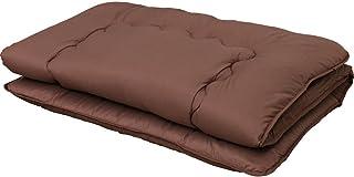 アイリスプラザ 敷き布団 三層構造 固綿使用 しっかり支える 低ホルムアルデヒド ホコリ出にくい 高耐久性 体圧分散 肌触り抜群 軽量 シングル ブラウン