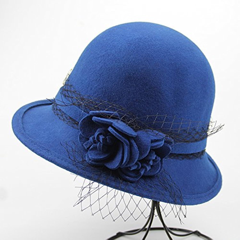 KYXXLD Ladies fashion dome small Hat Wool Hat elegant wool hat
