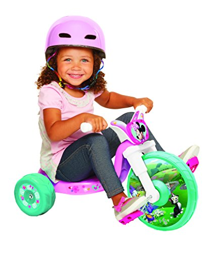 Disney Princess princesa Corazón fuerte volante de inercia Ride-On triciclo Ride On, Pink/White/Teal,…