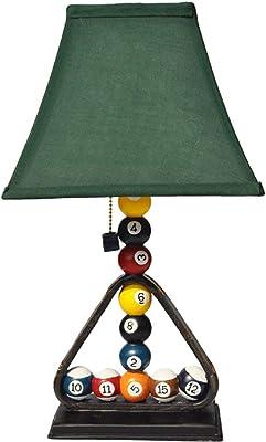 MUTANG Decoración de billar de resina Lámpara de mesa Personalidad ...