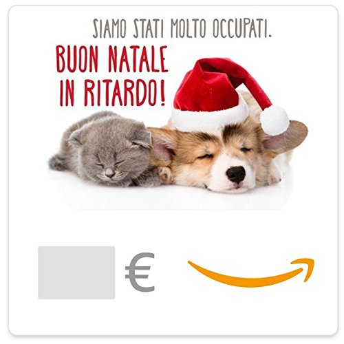 Buono Regalo Amazon.it - Digitale - Gatto e Cane di Natale