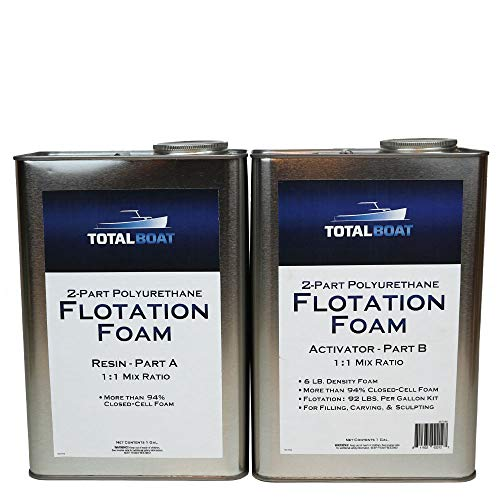 TotalBoat Liquid Urethane Foam Kit 6 Lb Density, Closed Cell for Flotation & Reinforcement (2 Gallon Kit) (TB-FOAM6)