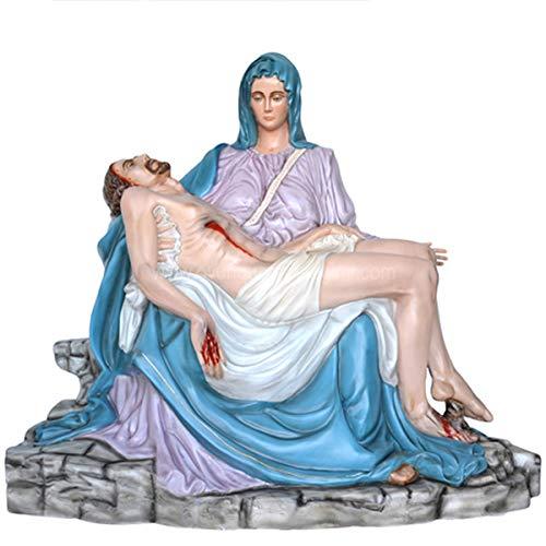 Generische Figur Pieta aus farbigem Fiberglas 130 Geeignet für Innen- und Außenräume, hergestellt in Italien.