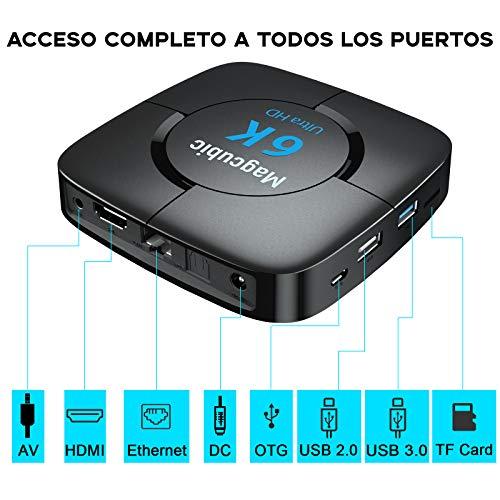 TV Box Android 10.0 4GB Ram 32GB ROM Allwinner H616 Quad-Core Support Dual WiFi 6K 4K Ultra HD H.265 3D Smart TV Box con Mini Teclado miniatura