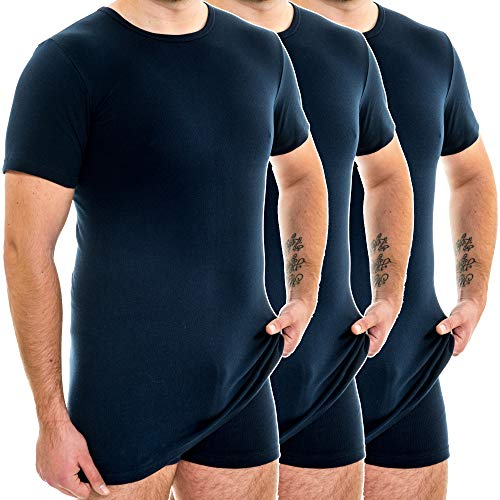 HERMKO 3847 3-pack heren extra lange mouwen shirt (+10cm)
