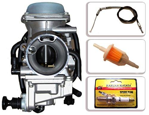 GLENPARTS Carburetor for Honda ATV ATC250SX ATC250ES Big Red ATC250 ATC 250 1985 1986 1987 PD32J with free Throttle Cable, Spark Plug, Fuel Filter