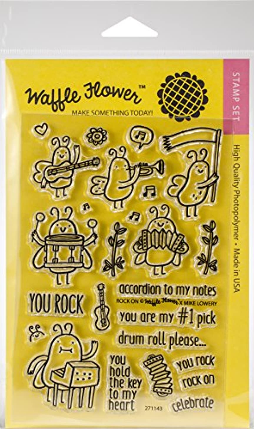 Waffle Flower Crafts Rock On Clear Stamps 4