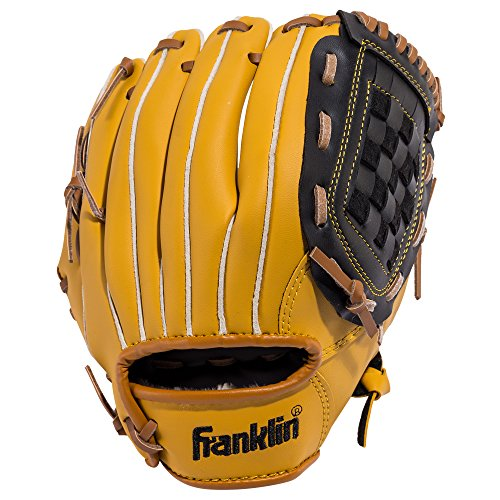 Franklin Sports Baseball and Softball Glove - Field Master - Baseball and Softball Mitt Tan, 10.5'