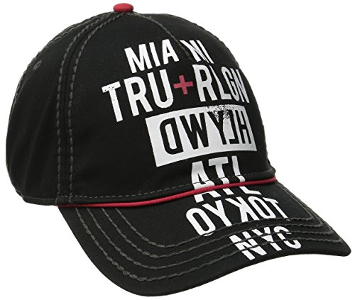 True Religion Herren Baseballkappe Tour Cities - Schwarz - Einheitsgröße