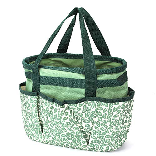 Homes Garden Tote Garden Tool Bag with Pockets 12 in. x 6.3 in. x 9.1 in. Polyester Gardening Gift #G-6004-US