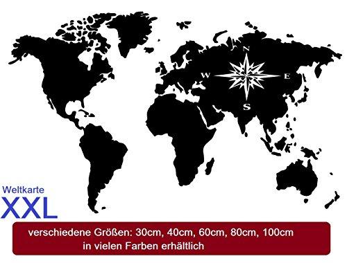 Generic Mappa del mondo adesivi stickers adesivi XXL Map of the world, disponibile in per il vostro Camper Caravan Roulotte o come adesivo da parete 210/2