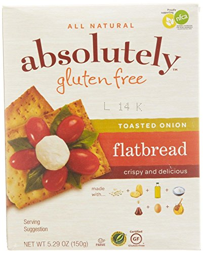 Absolutely Gluten Free Toasted Onion Flatbread, 5.29 Ounce -- 12 per case.