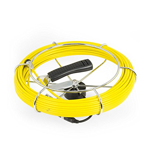 DURAMAXX Inspex - Ersatzkabel mit Einer Länge von 30m für Inspektionskamera, Kompatibel mit Inspex 3000, Glasfaser-Ersatzzubehör, Metallspule & Griffspule, Kabel, Zubehör, passgenau, schwarz
