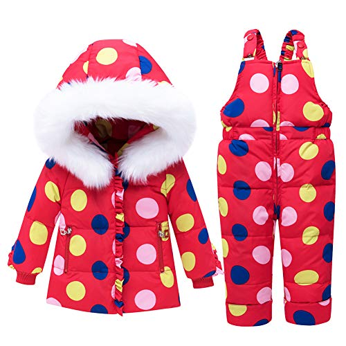 BBSMLIN 0 6-24 Meses Bebe Ni/ña Navidad Disfraz Ropa de Conjunto Invierno Chaqueta Grueso Traje de Esquiar Saco Mono
