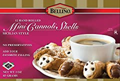 Hand-rolled light and crunchy pastry shells Made with enriched flour, sugar and other natural ingredients Ready to fill with cannoli cream or your favorite ice cream, pudding or yogurt Low Sodium 12 shells included