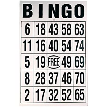 Black on Yellow Background Reduced Price Giant Print Bingo Card