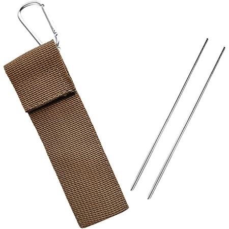 iplusmile 箸 折りたたみ ステンレス製 コンパクト 遠足 旅行 収納袋付き 携帯便利 食器 屋外 1セット