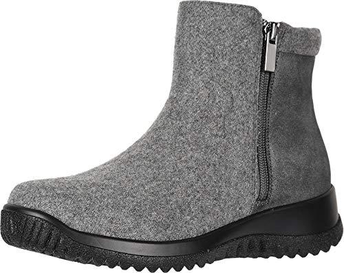Drew Shoes Kool 19178 Women's Casual Boot: Grey/Combo 13 Medium (B) Zipper