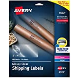 Avery Glossy Crystal Clear Address Labels for Laser & Inkjet Printers, 2' x 4', 100 Labels (6522)