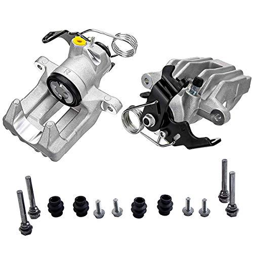 Paar Bremssattel Hinterachse Hinten Links und Rechts mit Schrauben Führungsbolzen 8E0615423 8E0615424 für A4 A6 Skoda Superb