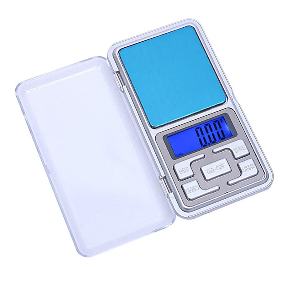 lightclub Accurate to 0.01g Mini Portable LCD Display Electronic Jewelry Phone Weighing Scale Mini Pocket Balance Weigher for Medicinal Herbs, Jewelry, Flour, Pastry Silver 0.1~500g