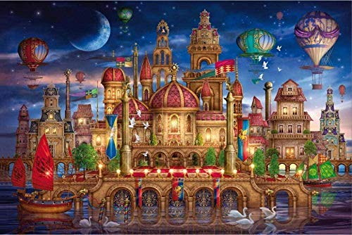 Mini Micro Jigsaw Puzzle 1000 Piece for Adult, Castle Magic Toys Entertainment Puzzles Toys Family Gathering Interesante Toys38x26 cm