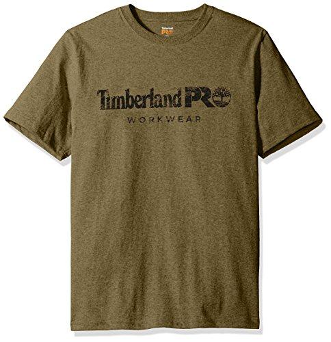 Timberland Herren T-Shirt PRO Cotton Core Short Sleeve Tee - Grün - Klein