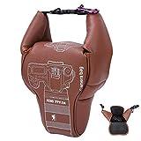 Bindpo wasserdichte Kameratasche, kleine Tragetasche Universal für Canon für Nikon SLR-Kamera, spiegellose DSLR-Kamera(M)