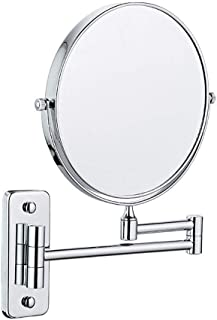 Bathroom Shaving Mirror Wall Mounted Cosmetic Mirror 3X/1X Magnification Makeup Mirror 360° Free Rotation for Beauty Makeup/Bathroom Shaving with Drilling or Without Drilling
