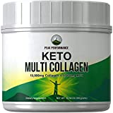 Keto Multi Collagen Protein Powder + MCT Oil Powder. Perfect 2:1 Ratio Zero Carb 10,000mg Grassfed Collagen Peptides + 5000mg MCT Oil Powders. Keto Meal Replacement Shake for Ketogenic Diet