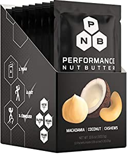 Performance Nut Butter Macadamia, Coconut & Cashew Keto Friendly Whole 30 Approved Food | Healthy Fat Bomb Packets - Paleo & Vegan Low Carb Snacks, Perfect Ketogenic Diet Foods - No Sugar Added Snack