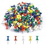 200 Pezzi Multicolori Decorative Puntine, Puntina da Disegno con Testa in Plastica, Spilli per Lavagna Push Pins Thumb Tacks, Puntine Chiodini da Mappa per Bacheca di Sughero (5 Colori)