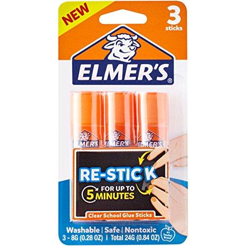 Elmer's Re-Stick School Glue Sticks, 0.28-Ounces, 3 Count