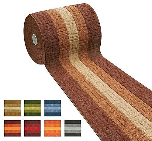 Mod. Mia - Alfombra de pasillo o cocina, de 57 cm de altura, con tejido 3D, ribeteada, degradada, con parte trasera antideslizante, se vende por metro