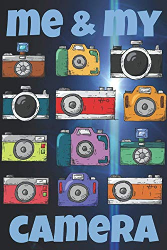 ME & MY CAMERA! Grid and Lined Journal A5 with Alphabetical Index + 5 Year Calendar Overview 2021-2025 + Numbered 172 Pages: Smart All-Purpose Squared ... Photographer Photo Shooter Profi Hobbyist Fan