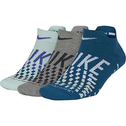 Nike Damen Everyday Max Cushion No-Show Training Sock (3 Pair), Multi-Color, M