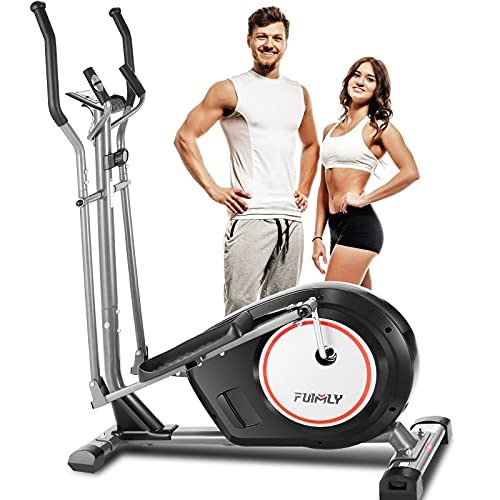 FUNMILY Elliptical Machine for Home, Elliptical Machine Cross Trainer with APP, 8 Level Magnetic Elliptical with LCD Monitor and Pulse Sensors Max Capacity 390lbs