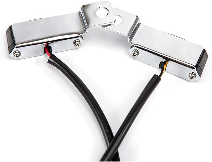 Negro Moto Mini LED Luz de se/ñal de giro Agua que fluye Luz indicadora intermitente Luz intermitente