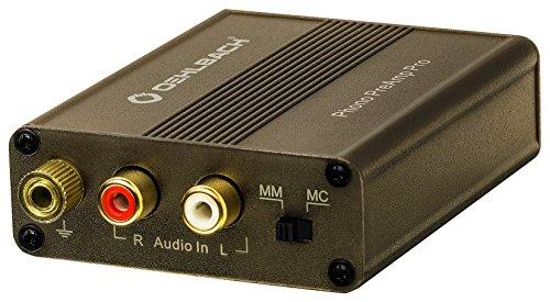 Oehlbach Phono PreAmp Pro - Phono-Vorverstärker - für Plattenspieler mit MM- oder MC-Tonabnehmer, kompakt & leistungsstark - metallic braun