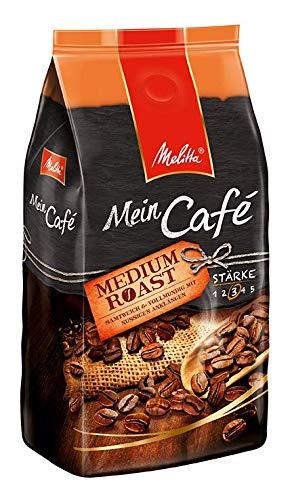 Melitta Ganze Kaffeebohnen, samtweich und vollmundig mit nussigen Anklängen, Stärke 3, Mein Café Medium Roast, 8 x 1 kg