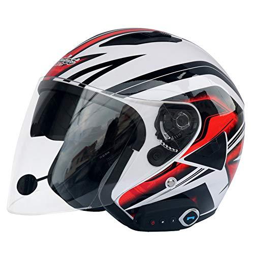 LUYION Bluetooth Motorrad Helm Anti Nebel Doppelobjektiv HD Regenfest Anrufe Eingebettetes Mikrofon Musik Belüftung Off-Road Schutzausrüstung