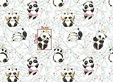 Slantastoffe Baumwollstoff Kinderstoff Panda Breite 160cm