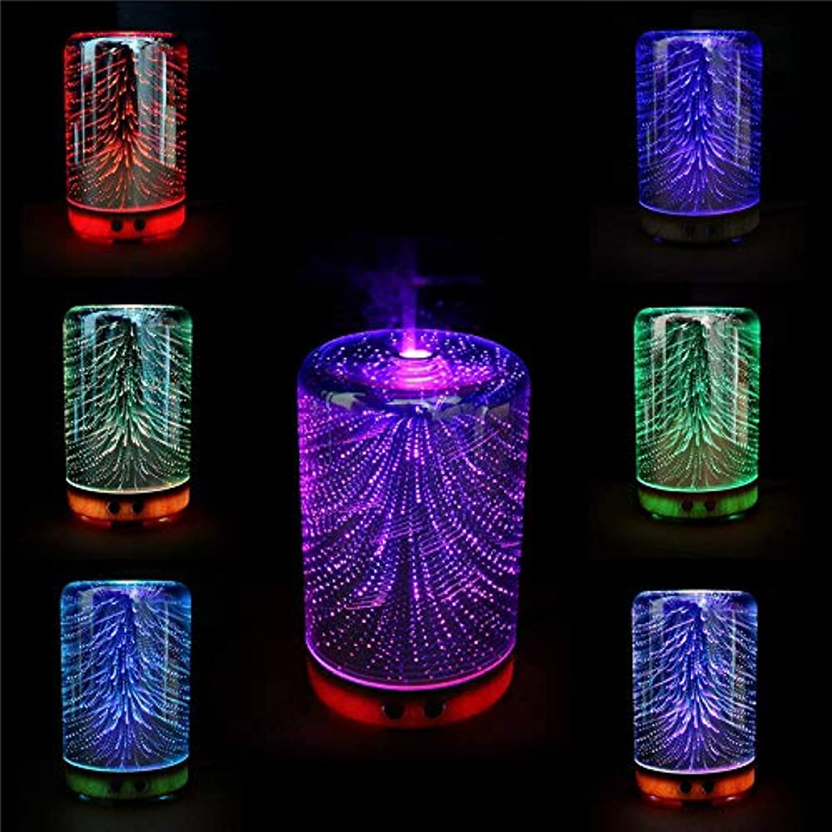 あえて主人徒歩でFishagelo Color Changing 3D Lighting Essential Oil Aroma Diffuser Ultrasonic Mist Humidifier Aromatherapy 141[並行輸入]