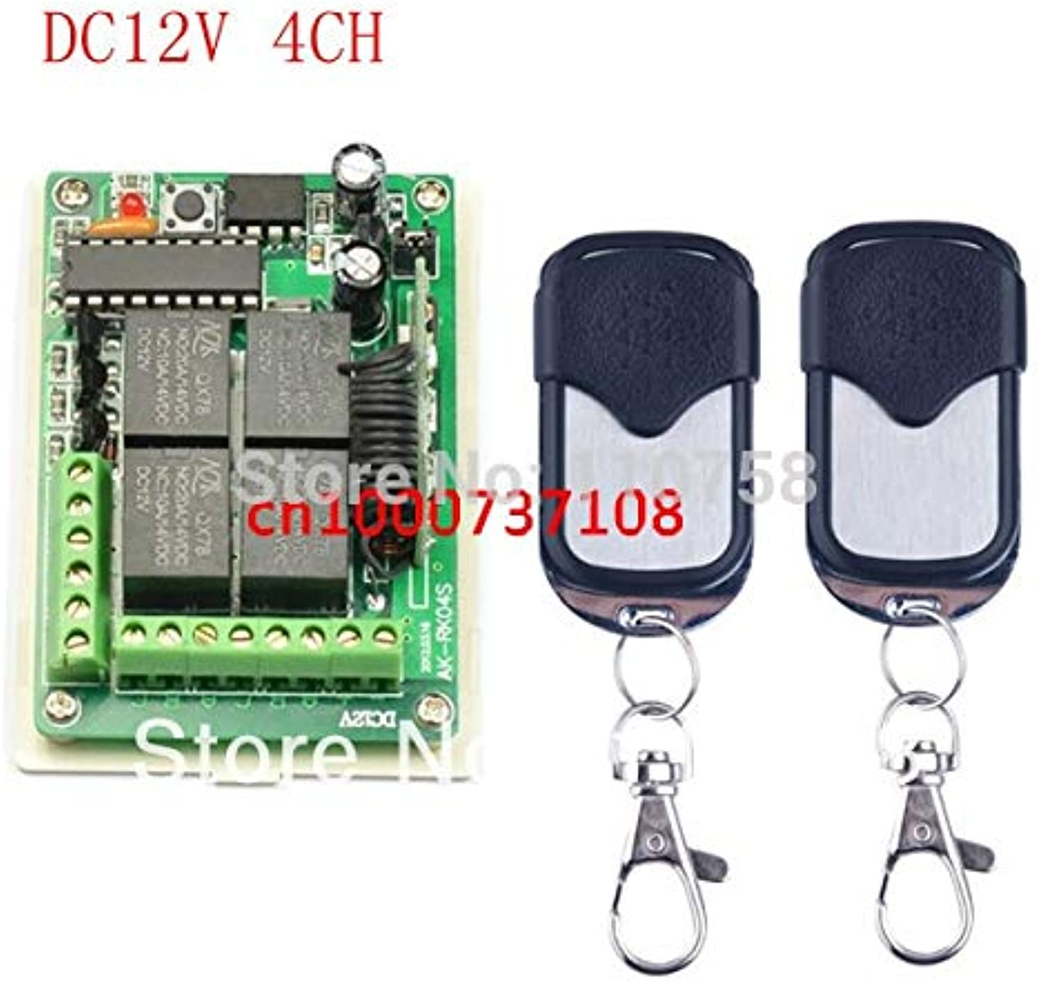 Made in AK Company DC 12V 4 CH 4CH RF TX RX,315 433 MHZ Transmitter and Receiver 315mhz  433mhz