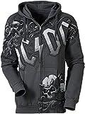 Photo de AC/DC Prowler Homme Sweat-Shirt zippé à Capuche Anthracite XL, 80% Coton, 20% Polyester, Slim Fit