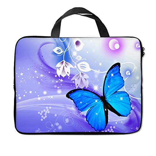 Britimes Laptop Sleeve Case Protection Bag Waterproof Neoprene PC Cover Water Resistant Notebook Handle Carrying Computer Protector Butterfly 11 12 13 inches