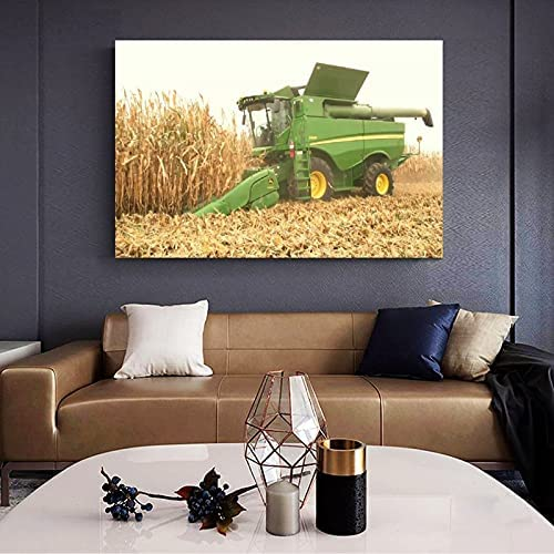 Carteles e impresiones Cartel de granja John Deere Cosechas Cartel de cultivos y arte de pared Impresión de imagen Decoración de dormitorio familiar moderno 40x60cm sin marco