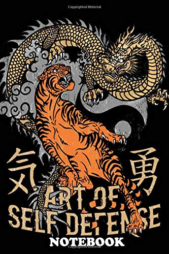 Notebook: Tiger And Dragon , Journal for Writing, College Ruled Size 6' x 9', 110 Pages