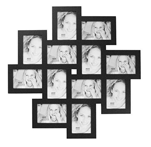 Deknudt Frames S65SK4 Cadre Multi-Photos avec 12 Ouvertures Noir 10 x 15 cm