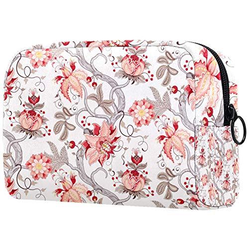 Borse per il trucco Custodia multifunzione per organizer per cosmetici da viaggio portatile Ramo di albero curvo con fiori fantastici con borse da toilette con cerniera per donna